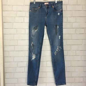 Ted Baker Kimle ripped skinny jeans size 26